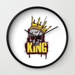A Unique Detailed Skull Tee For Yourself? Here's An Awesome T-shirt For You King Skull Design Crown Wall Clock