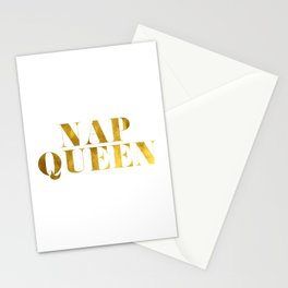 Nap Queen Gold Stationery Cards