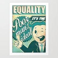 equality Art Prints featuring Equality by Sophie Broyd