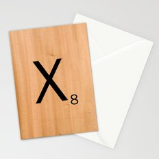Scrabble Letter Tile - X Stationery Cards