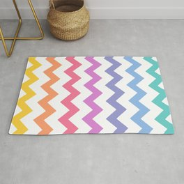 Rainbow Chevron Rug