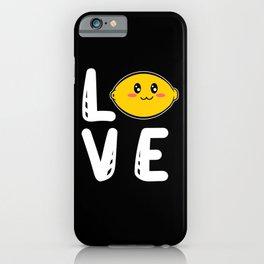 Love Heart Cute Vitamin C Small Lemons iPhone Case