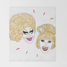 UNHhhh - Trixie and Katya Throw Blanket