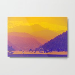 Mountains & Camels Metal Print