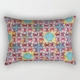 Crabs & Shells print Rectangular Pillow