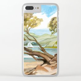 Summer At Coopers Beach Clear iPhone Case
