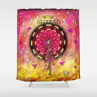 libra Shower Curtains featuring Libra by Lady Amethystine