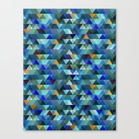 crystal Canvas Prints featuring Crystal by Marcelo Romero