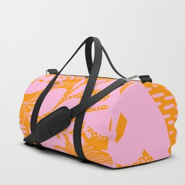 Sunny Tropical Cocktail #tropicalvibes #pattern Duffle Bag