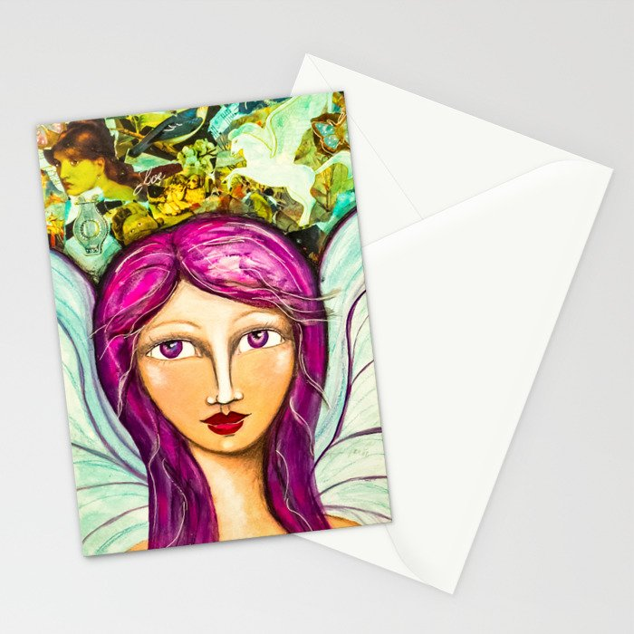 Angel of Peace - Gold Lotus Oracle Series Stationery Cards
