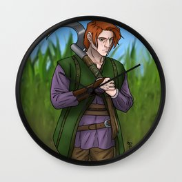 Leif the Harvester Wall Clock