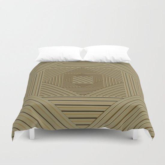 Golden Maze Duvet Cover