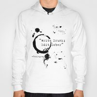 writing Hoodies featuring Hemingway Writing Quote by Novel Reveries