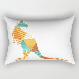 Kangaroo Capers Rectangular Pillow