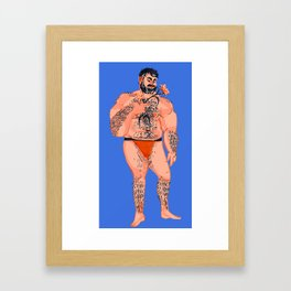 Man with Orange Lily Framed Art Print