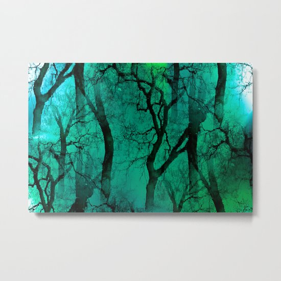 Glamour Trees (green) Metal Print