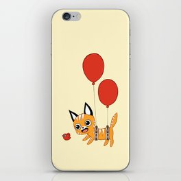 Balloon Cat iPhone Skin