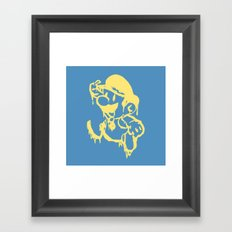 Mario au fromage Framed Art Print