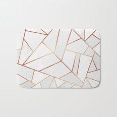 White Stone & Copper Lines Bath Mat