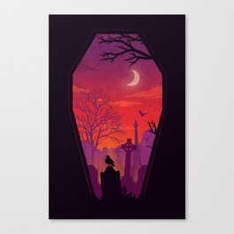 To The Grave Canvas Print