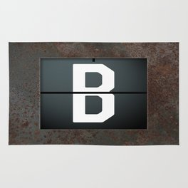 monogram schedule b Rug
