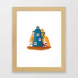 Tea Lighthouse Framed Art Print