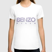 pills T-shirts featuring Benzo Pills by chobopop