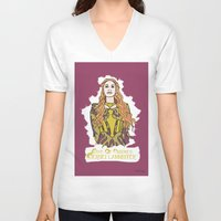 lannister V-neck T-shirts featuring Cersei by JessicaJaneIllustration
