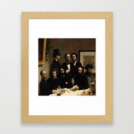 Fantin -latour, un coin de table Framed Art Print