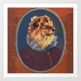 GENTRIFIED BOURGEOIS LION Art Print