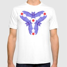 Vampire Blood Pattern Mens Fitted Tee SMALL White