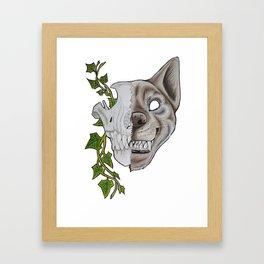 Half Face Framed Art Print