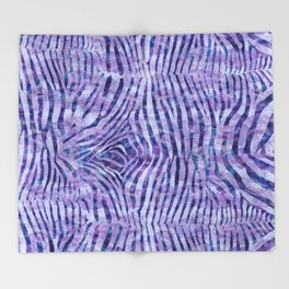 Purple Zebra Print Throw Blanket