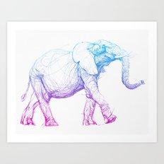 elephant_003_color Art Print
