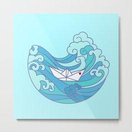 LOVE OCEAN Metal Print