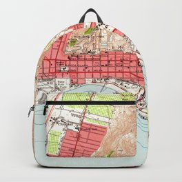 Vintage Map of Ventura California (1951) Backpack