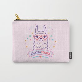llama mama pink alpaca mom gift Carry-All Pouch