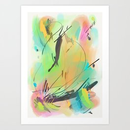 Abstract sunrise CS15 Art Print