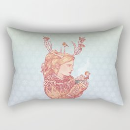 December Lady Rectangular Pillow