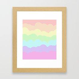 Rainbow Ombre Clouds Framed Art Print