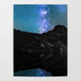 Milky Way Mountain Poster