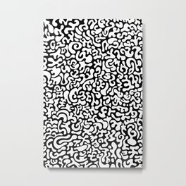 Social Networking (Reverse) Metal Print