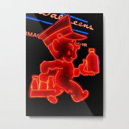 Walgreen neon Metal Print