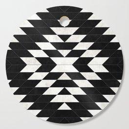 Urban Tribal Pattern 14 - Aztec - Black Concrete Cutting Board