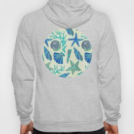 Blue Seashells Hoody