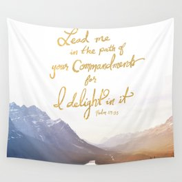 Psalm 119:35 Wall Tapestry