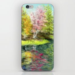 Fall at the River iPhone Skin