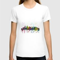 north carolina T-shirts featuring Charlotte, North Carolina Skyline by Marlene Watson