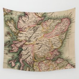 Vintage Map of Scotland (1814) Wall Tapestry