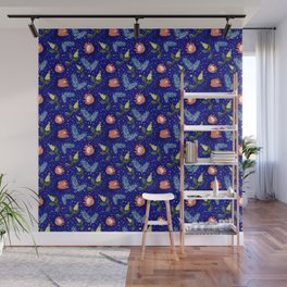 Australian Native Floral Pattern - Bright and Cute Wall Mural